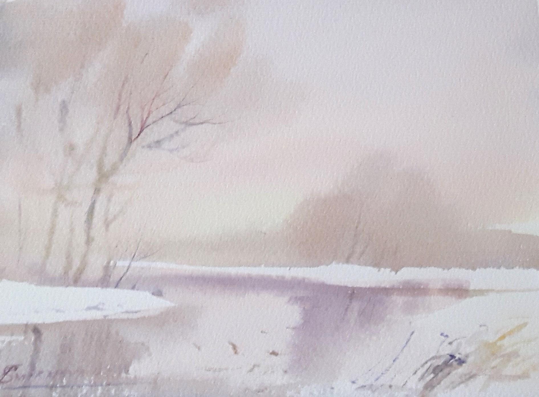 Paesaggio di neve, 20x25, 2016